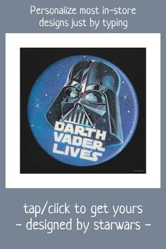"Vintage ""Darth Vader Lives"" Helmet Badge Canvas Print #star #wars #retro #vintage #classic #CanvasPrint"