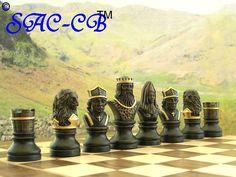 Hand Painted Richard the Lionheart Chess Set