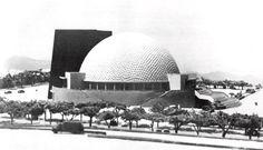 """Maqueta del proyecto 'Aula Magna', Ciudad Universitaria (UNAM), México DF 1950  Arq. Carlos Obregón Santacilia -  Model of the project """"Aula Magna', Cuidad Universitaria (UNAM), Mexico City 1950"""