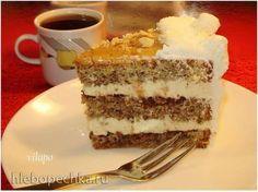 торт ореховый со сливочно-карамельным кремом