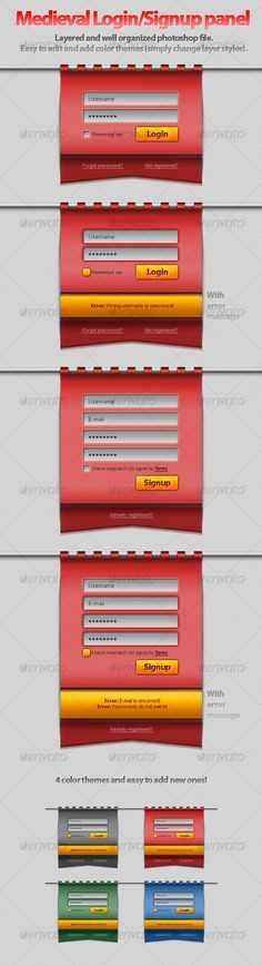 Hanging Medieval Login/Signup Panel! - #Forms #Web Elements Download here: https://graphicriver.net/item/hanging-medieval-loginsignup-panel/89336?ref=alena994