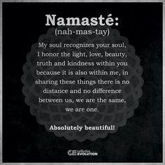 Namaste....