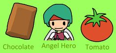 CAT (Chocolate, Angel Hero, Tomato) / #boy #food #vegetable