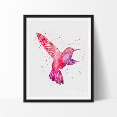Bird Watercolor Art Print