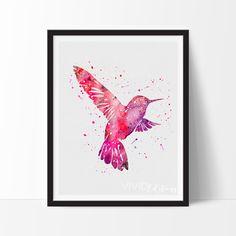 Bird Watercolor Art Print