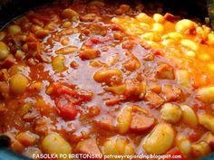 PotrawyRegionalne: FASOLKA PO BRETOŃSKU Chili, Soup, Vegetables, Chile, Vegetable Recipes, Soups, Chilis, Veggies