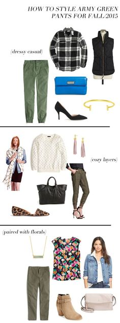 jillgg's good life (for less) | a style blog: how to style army green pants (three ways)!!