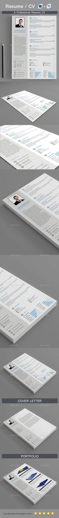 Resume Template Simple Resume Template Set
