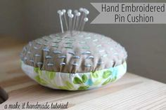 This small pincushion is easy to make and is the perfect project to show off your hand embroidery skills.