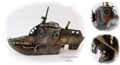 Steampunk Submarine by Diarment.deviantart.com on @deviantART