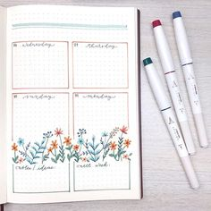 Craft Day Studio by Sasa sur Instagram: Final weekly spread is now up! I just noticed how this layout is like a plant box outside a window. 😅
