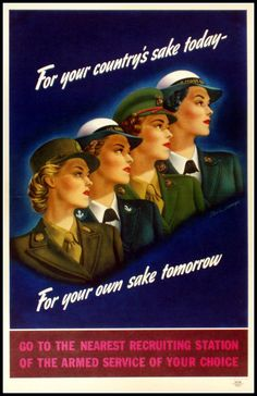 US Armed Forces Poster  Recruiting Women Officers  by BloominLuvly