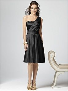 Dessy Collection Style 2862 #black #bridesmaid #dress