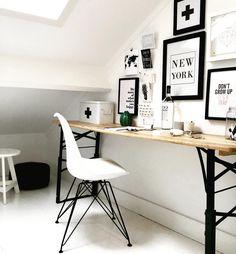 Bedroom desk - Home decoration - Decoratie New York Decor, Chic Office Decor, Bedroom Desk, Bedroom Styles, New Room, Home Interior Design, Room Inspiration, Room Decor, House Design