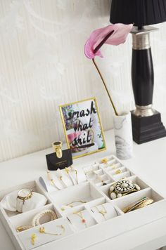 I use these DIY displays for events and I think that they will stand lovely on your dressing table. The letterbak ...