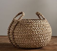 Beachcomber Round Handled Baskets Pottery Barn - Our Beachcomber Baskets Are Handwoven From Sustainable Natural Fibers That Are Richly Textured And Bring A Casual Easy Style To Home Organization Ideal For Stowing Pillows Media Components Towels Basket Organization, Storage Baskets, Makeup Organization, Towel Storage, Closet Organization, Kitchen Storage, Basket Weaving, Hand Weaving, Woven Baskets