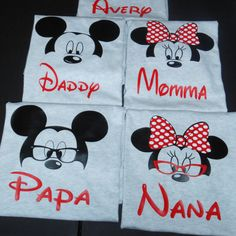 Disney Family shirt - Mickey and minnie custom shirts - Grandma Disney shirt - Grandpa Disney shirt -Mom and Dad matching shirts by CuteCreativesCreatio on Etsy https://www.etsy.com/listing/270621563/disney-family-shirt-mickey-and-minnie
