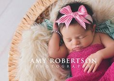 Candy Stripe Bow Headband | Bébé K Studio Bébé K Studio: handmade photography props bebekphotoprops.com facebook.com/bebekstudio amy robertson photography baby newborn boy girl crochet hat headband blanket