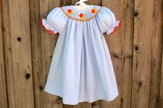 Candy Corn Smocked Dress from Smocked Auctions