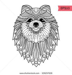 zentangle dogs - Google Search