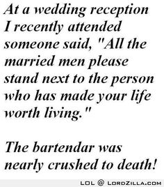 Funny Wedding Joke