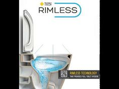 Rimless technology that provides full toilet hygiene! Bathroom Seat, Toilet, Sink, Technology, Home Decor, Sink Tops, Tech, Vessel Sink, Decoration Home