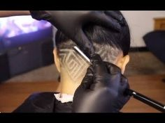 how to do an UnderCut, Girls undercut, star design, undercut with stars,...