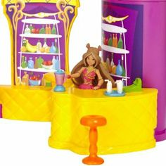 """Winx 3.75"""" Frutti Music Bar with Bloom by Winx. $12.95. The Frutti Music Bar allows girls to play out the world of Winx Club with five areas of play. Transform Bloom into a fairy in the transformation chamber. Knock down the evil Icy with shooting Dragon Flame disc. Bloom can perform on stage with Winx music. Hang out at the Frutti Bar and enjoy a smoothie. From the Manufacturer                Play out the world of the Winx Club with this adorable Frutti Music Bar Playset. W..."""