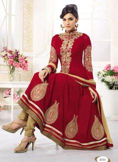 Kriti Sanon Red Long Length Designer Anarkali Suits By Fabliva Anarkali Suits Designer Anarkali, Designer Salwar Kameez, Salwar Kameez Online, Shalwar Kameez, Indian Anarkali, Long Anarkali, Anarkali Dress, Anarkali Suits, Churidar Suits