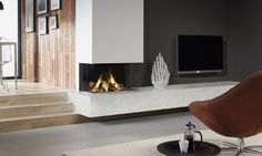 DRU Lugo 80/3 three-sided balanced flue gas fire | DRU - Designed ...