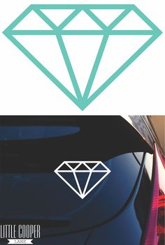 Add a bit of BLING to your life! Suitable for Cars, Laptops, Walls or any smooth flat surface. Removable Vinyl Decal.