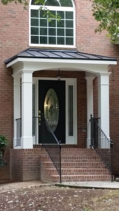 Adding A Front Porch Cost . Adding A Front Porch Cost . Front Porch Designs for Manufactured Homes Front Door Awning, Front Porch Columns, Porch Overhang, Porch Awning, Brick Porch, House Front Porch, Small Front Porches, Front Entry, Portico Entry
