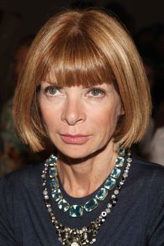 Anna Wintour - Style Icon - The Jewel Expert: Emerald Cut Aquamarine Necklace