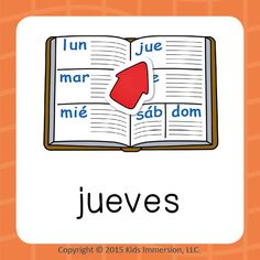 Your students will probably tell you that the #TBT hashtag doesn't make quite as much sense in #Spanish but #jueves is definitely more fun to say! #Thursday #WoW #WordOfTheWeek #elementary #edchat #earlyed