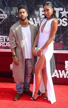 Omarion and Apryl Jones Split Black Celebrity Couples, Black Couples, Celebrity Style, Tall Girl Short Guy, Short Girls, Black Celebrities, Celebs, Apryl Jones, Fashion Couple