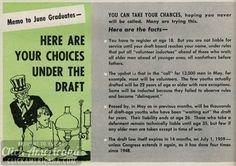 Men: Here are your choices under the draft (1958)