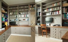 one of our #home office #designs - #wooden #design - #wood #furniture