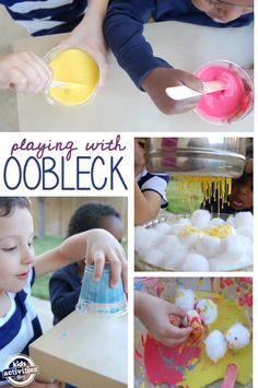 ways to make and play with oobleck - these activities mesmerized my kids