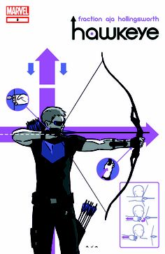 Hawkeye. Upcoming series by Matt Fraction and David Aja.