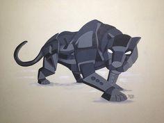Pantera fusión de ilustración y graffiti 3D #rekorises