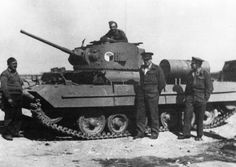 "An infantry Mk.III tank ""Valentine Mk II"" belonging to one of a one of the Czechoslovak battalion in Tobruk. December 1941."
