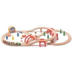 MAXIM 52 PC WOODEN TRAIN SET - FITS THOMAS TANK TRAIN by Maxim. $39.95. This Thomas / Brio compatible wooden train set is our action-packed, basic starter set. This 52 piece train set is the perfect set to introduce your child into the wonderful world of toy wooden trains. It includes the ever popular figure 8 and elevated tracks. This set comes complete with all the track and trains shown above. Track pieces are made from 100% hardwoods and are compatible with Thomas the ...