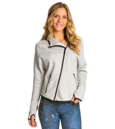 Onzie Dolman Jacket Cuddle Buddy, Basic Yoga, Capsule Wardrobe, Hemline, Heather Grey, Hooded Jacket, Zip Ups, Warm, Hoodies
