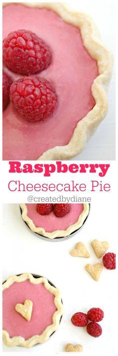 Raspberry Cheesecake Pies in mason jar lids @createdbydiane