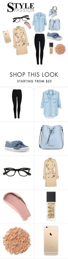 """Outfit Inspiration // Baby Blue And Beige"" by peltomakipauliina on Polyvore featuring Rails, Nine West, Armani Jeans, Burberry, Illamasqua and Hermès"