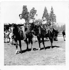VIntage Photo: 1960's Ranch Horse Father Daughter Horseback Riding Trees - $4.99 #onselz