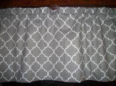 Dark Gray White Ogee Lattice Quatrefoil fabric by yoursewingroom