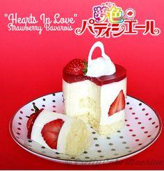 """Recipe/Tutorial: Yumeiro Pâtissiere """"Hearts In Love"""" Strawberry Bavarois   Pretty Cake Machine"""