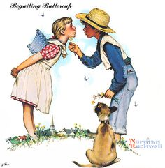 Beguiling buttercup, by Norman Rockwell