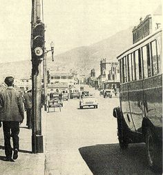 Cape Town's first traffic light. The city's first three traffic lights were installed in January 1932.This one is in Darling street near the Castle. They were promptly named Robots. a uniquely South African term which has remained through the years.